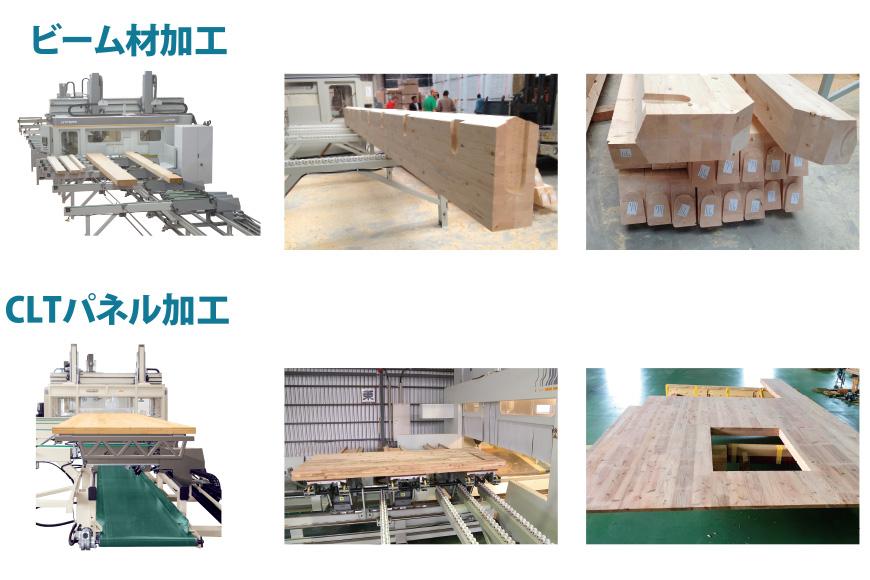ビーム材加工|CLTパネル加工